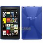 "2015 Amazon Kindle Fire HD 10"" Gel Protective Case Skin Cover + Screen Protector"