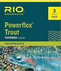 Внешний вид - RIO Powerflex Trout Tapered Leader 3 Pack 7.5 ft, 9 ft Lengths All Sizes