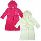 Girls Star Motif Hooded Fleece Dressing Gown  Bathrobe with Ears 7 to 13 Years