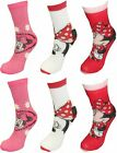 Disney Minnie Mouse Girls 6 pack Socks