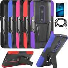 Phone Case For Motorola Droid Maxx 2 Rugged Cover Stand USB Charger Film
