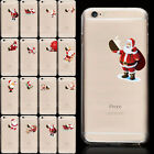 Ultra Thin  Christmas Santa Claus Crystal Clear Soft Case For iPhone 6s Plus 5s