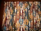 Christmas Old World Folk-Art Santa Clause holiday fabric curtain topper Valance