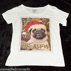 Christmas #Selfie Pug Women's Short-Sleeve T-shirt (AVAILABLE Medium - XLarge)