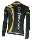 Colombian National Cycling Collection: Performance Long Sleeve Jersey in Black