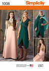 PATTERN SIMPLICITY Game Of Thrones Dress Cape sz 6 to 22 1008 Fantasy DragonCon