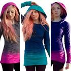 Women's Hooded Tops Sweatshirt Bodycon Hoodies Pullover Tunic Jumper Mini Dress