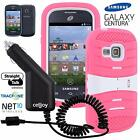 Extreme Kickstand Hybrid Case + Car Charger For Samsung Galaxy Centura Discover