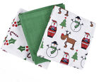 Christmas Tea Towel 3 Pack Set Different Packs to Choose