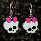 FUNKY PUNK SKULL EARRINGS CUTE KITSCH GOTHIC SKELETON HEAD RETRO ROCK CHICK GIFT