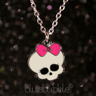 FUNKY PUNK SKULL NECKLACE CUTE KITSCH GOTHIC SKELETON HEAD RETRO ROCK CHICK GIFT