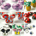 Mixed Chinese Porcelain Beads Butterfly Cube Fish Pineapple Loose Beads Spacers