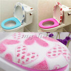 1xBathroom Warmer Toilet Seat Pad Mat+1xSoft Closestool Washable Lid Top Cover