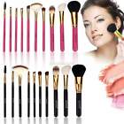 10PCS Makeup Brush Set Cosmetic Brushes Eyeshadow Make Up Kit Black Red Choose