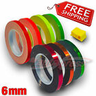 "6mm 1/4"" PIN STRIPE Striping Car METALLIC CHROME FLUORESCENT Decal Vinyl Sticker"