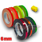 "6mm 1/4"" PIN STRIPE Striping METALLIC CHROME FLUORESCENT Decal Vinyl Stickers"