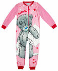 Girls Tatty Teddy Me to You Zip Fleece Sleepsuit All in One Romper 2 to 8 Years