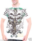 Artful Couture T-Shirt Sz M L XL XXL Cross Skull Biker Street Tattoo Rock Aw75