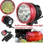 Super 15000Lm 9x XM-L2 R8 LED Bike Bicyle Cycling Front Head Rear Lamp Torch Set