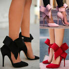 SEXY WOMEN LADIES POINTY TOE GLADIATOR HIGH HEEL PUMPS STILETTOR ANKLE BOW SHOES