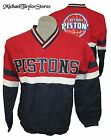 Detroit Pistons Men's M-3XL Pullover V-Neck Cloith-Lined Warm Up Jacket NBA on eBay