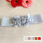 NEW Women's Candy Color Big Rose Flower Elastic Waistband Belt Wholesale