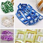 20mm Square Rectangle Mother Of Pearl Shell MOP Loose Bead Hollowed Strand DIY