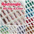 (Small Qty) Rectangle 3255 Glass All Size Color Crystal Flatback Sew On beads