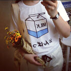 Special Women Summer Harajuku Cute Soft Milk Print Loose T-Shirts Basic Tee JR