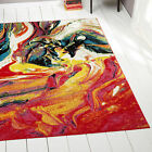 Modern Rug Contemporary Area Rugs Multi Geometric Swirls Lines Abstract Carpet фото