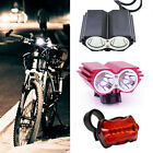 5000LM 2/3 Cree XM-L U2 LED Front Bicycle Bike Headlight Rechargeable Light Lamp