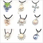 100% Genuine Natural Freshwater Pearl Charm Pendants -For Jewelry Necklace