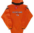 Cleveland Browns NFL Vintage Logo Team Colors Hoodie Jersey-Adult Large-NWT