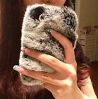 For iphone 6 Case 6plus Case 5s 5 With 100% Rabbit fur plush phone protective