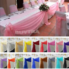 4M*0.5M Top Table Swags Sheer Organza Fabric DIY Wedding Party Bow Decoration JR