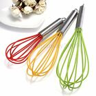 Stainless Steel Handle Silicone Whisk Balloon Wire Egg Beater Mixer Tool S M L