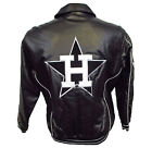Houston Astros Men's Full-Zip Faux Leather Bomber Cooperstown Jacket MLB Sz L XL on Ebay