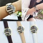 Lovely Ladies Piano Music Patterned Round Quartz Watch Leather Strap Women Gift