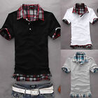 Factory Price Mens Casual Sexy Fit Polo Shirt T-shirts Tee Shirt White Black