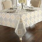 "NEW WATERFORD VALENTINA TABLECLOTH SILVER GOLD 52""x70"" 84"" 104"" OR 6 NAPKINS SET"