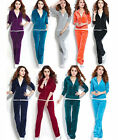 Womens Velour Hoodie+Pant Tracksuit Sport Yoga Running Sweat Suit S-4XL Fashion