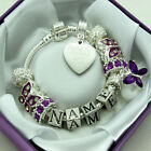 ENGRAVED Jewellery For Women Girls Purple Bracelet ANY MESSAGE Personalised Gift