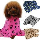 Cute Warm Paw Print Dog Cat Pet Pet Medium Fleece Blanket Puppy Kitten Soft Bed