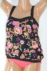 *NWOT MIRACLESUIT Black Multi Women's Swimsuit Tankini Size 12 NEW M12