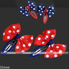 2x Hair Accessories Bowknot Polka Dot Clip Hairpin Slides For Girl Baby Children