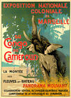 Cameroon Congo Marseille Elephant Exposition Travel Vintage Poster Repro FREE SH
