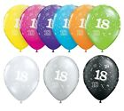 """18th Birthday Party Balloons 11"""" {Qualatex} Pack of 6 (Helium Quality/Age 18)"""