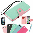Hybrid Cute Card Holder Flip PU Leather Wallet Case Cover For Apple iPhone 5C