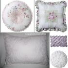 SIMPLY SHABBY CHIC DECORATIVE TOSS PILLOW BRAMBLE LILAC EYELET PINTUCK PINWHEEL