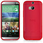 SLIM FITTED HYDRO RUBBER GEL SKIN CASE COVER FOR THE ALL NEW HTC ONE M8 PHONE